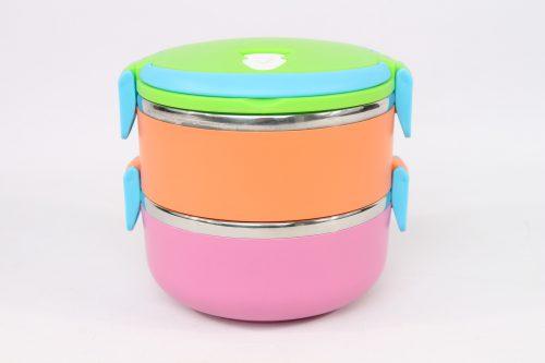 Une boite repas à niveau couleurs pastel
